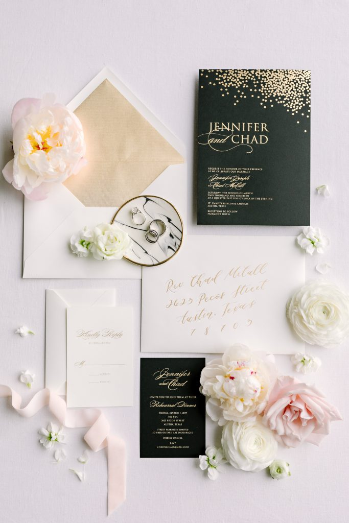 wedding collateral fairmont austin