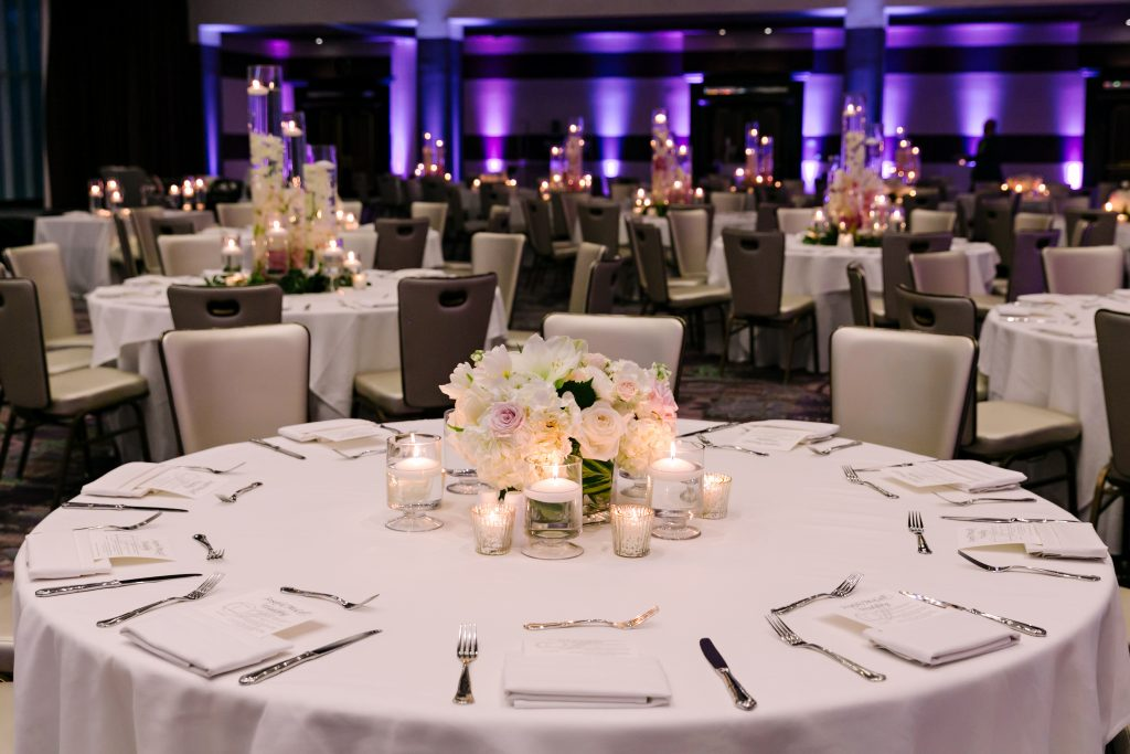 wedding table setting fairmont austin