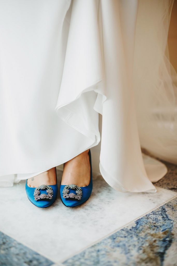 bride shoes at fairmont austin