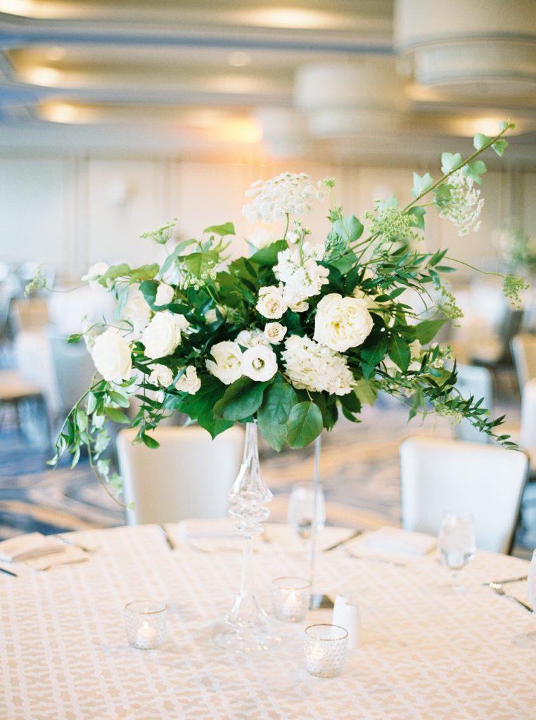 wedding centerpiece at fairmont austin