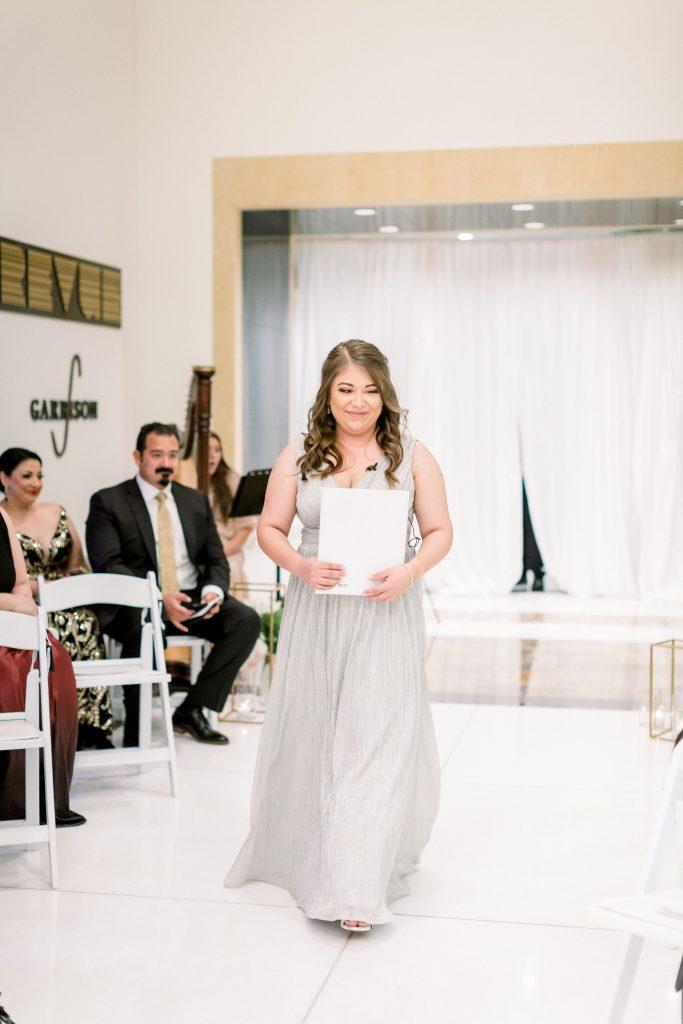 wedding ceremony at fairmont austin
