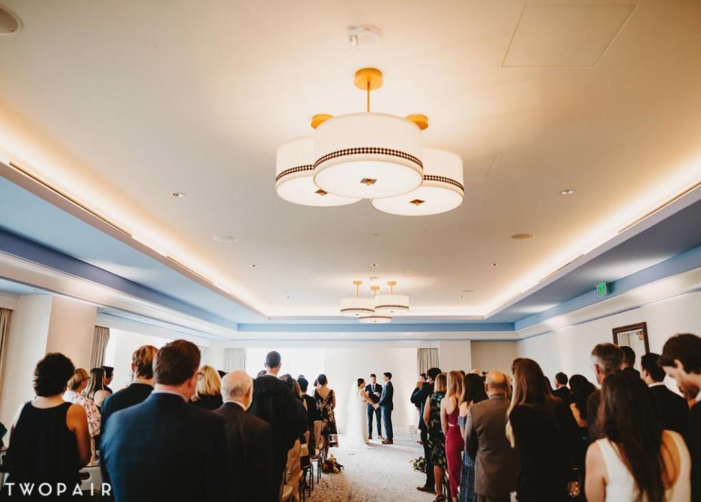 indoor ceremony in park view ballroom