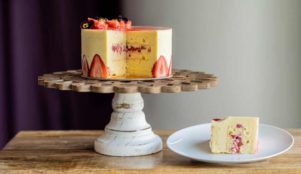 fairmont austin's strawberry tres leches cake