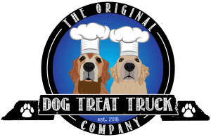 original dog treat truck company logo