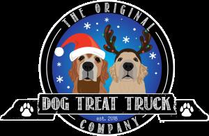 original dog treat truck company logo