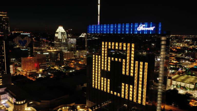 nurses appreciation light activation on fairmont austin