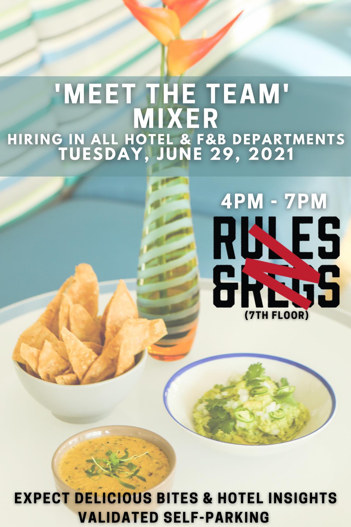 Meet the Team Mixer- June 29