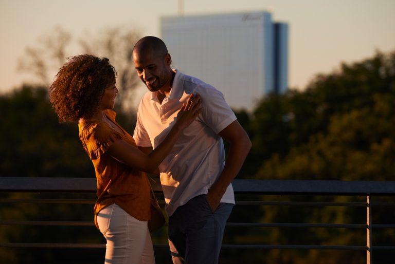 austin couple on boardwalk