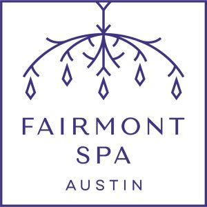 Fairmont Spa Austin logo chandelier shape